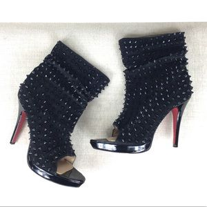 Christian Louboutin Black Guerrilla 120 Boots 11